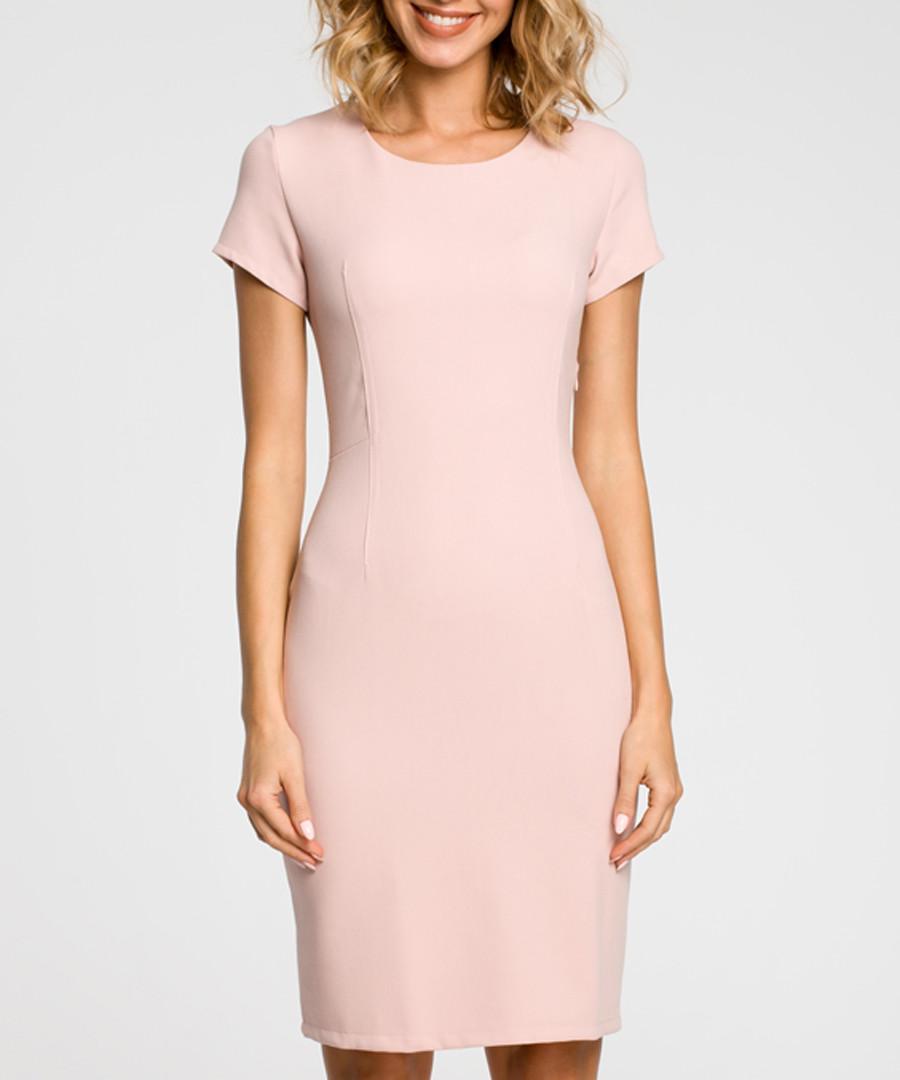 Powder pink wool blend sheath dress Sale - made of emotion