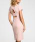 Powder pink wool blend sheath dress Sale - made of emotion Sale
