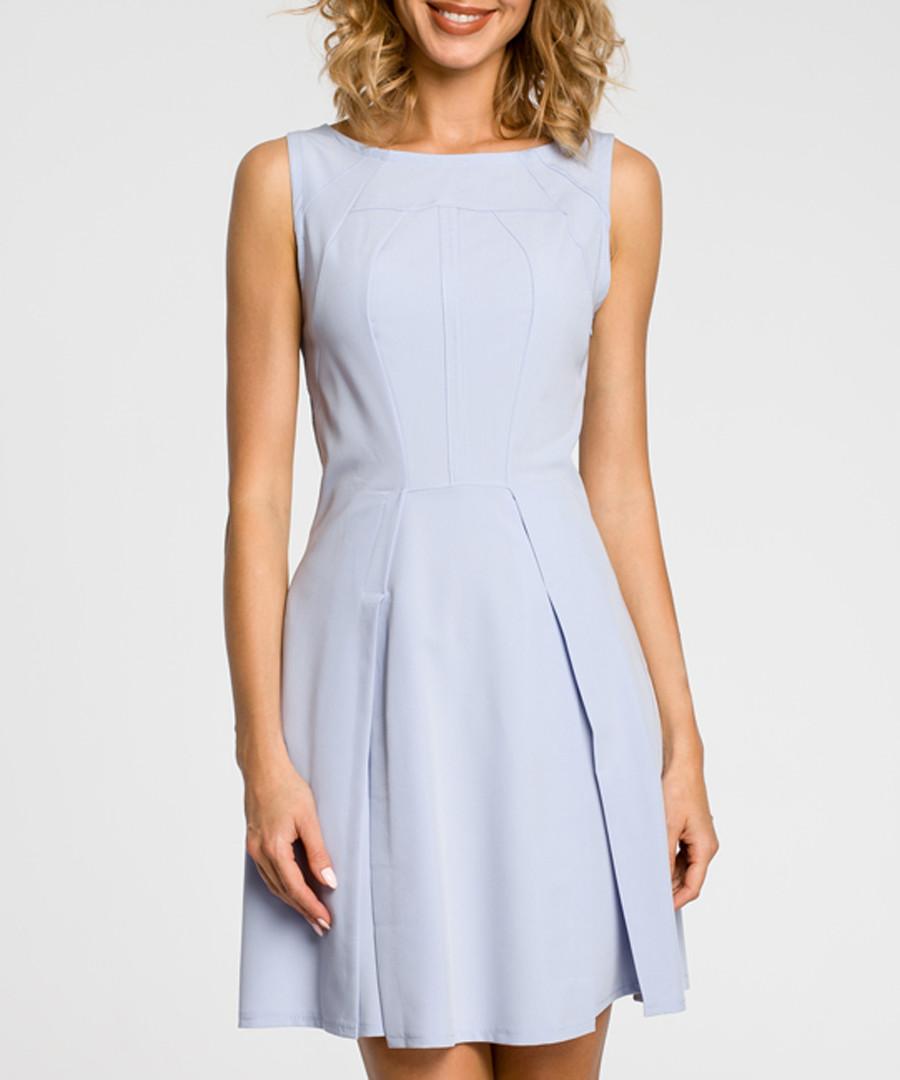 Light blue sleeveless mini dress Sale - made of emotion