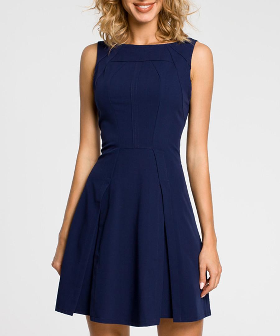 Navy sleeveless mini dress Sale - made of emotion