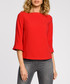 Red wool blend 3/4 sleeve blouse Sale - made of emotion Sale