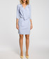 Light blue drape wrap dress Sale - made of emotion Sale