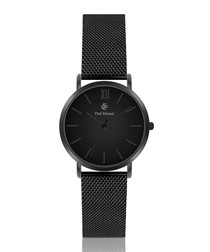 Matte black stainless steel watch