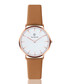 Tan brown & white leather watch  Sale - paul mcneal Sale