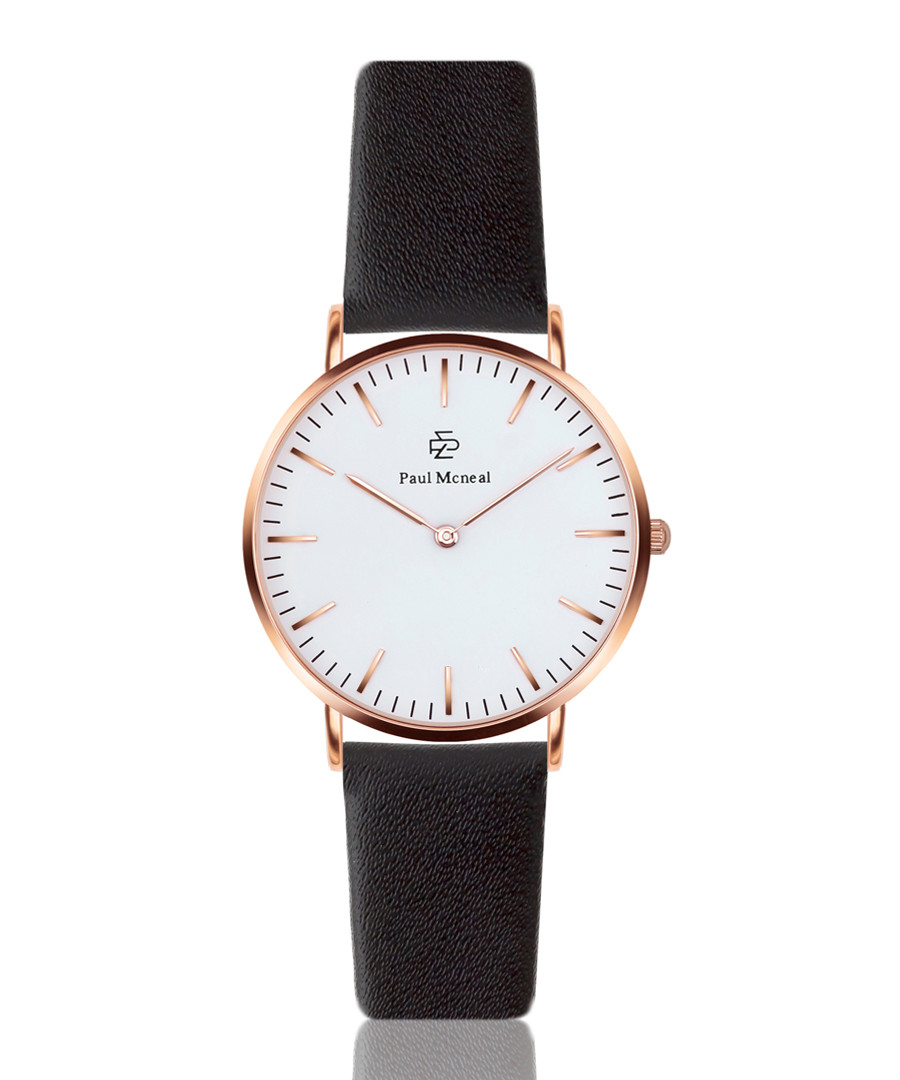 Black & white leather watch  Sale - Paul McNeal