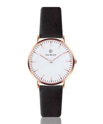 Black & white leather watch