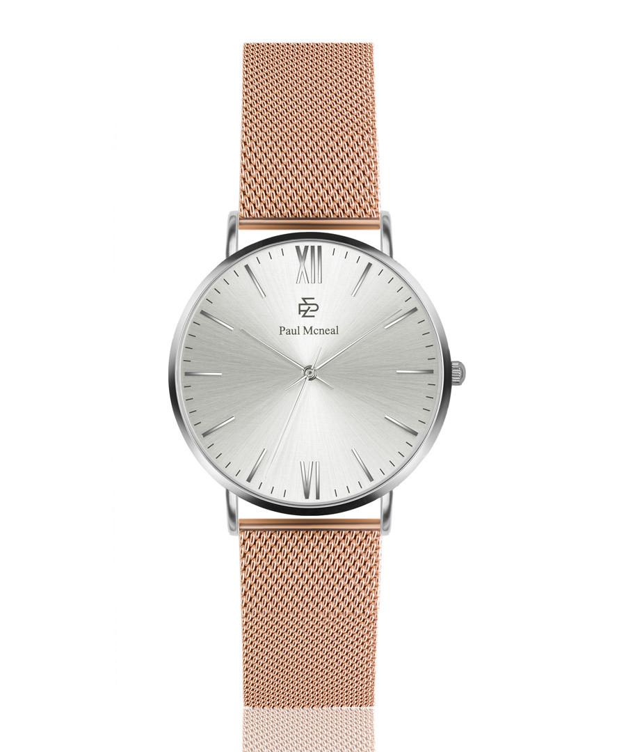 Rose gold-tone mesh strap watch  Sale - Paul McNeal