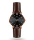 Brown & rose gold-tone leather watch Sale - Paul McNeal Sale