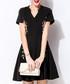 Black cotton blend floral print dress Sale - lanelle Sale