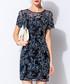 Navy floral lace overlay mini dress Sale - lanelle Sale