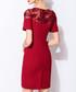 Red lace panel sweetheart mini dress Sale - lanelle Sale