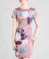 Mauve cotton blend embroidered dress Sale - lanelle Sale
