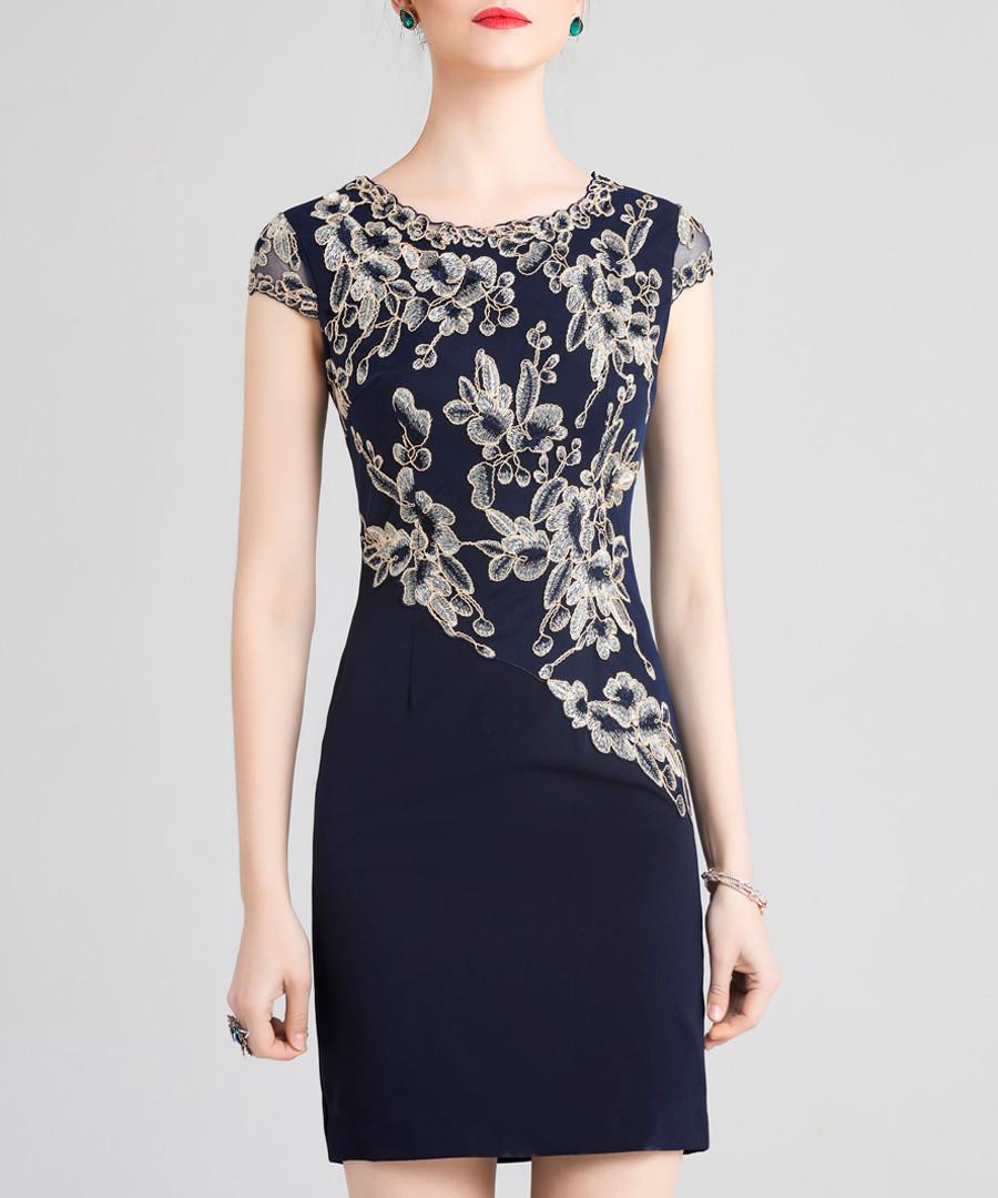 Black print short sleeve mini dress Sale - lanelle