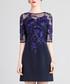 Blue lace panel A-line mini dress Sale - lanelle Sale