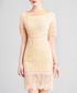 Light yellow lace overlay dress Sale - lanelle Sale