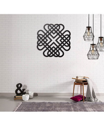Black metal intricate design wall art