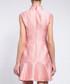 Pink Chinese collar ruffle hem dress Sale - lanelle Sale