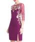 Purple embroidered slit mini dress Sale - lanelle Sale