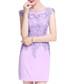 Lavender cotton blend lace dress Sale - lanelle Sale