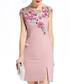 Pink embroidered slit mini dress Sale - lanelle Sale