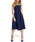 Navy mesh panel sleeveless midi dress Sale - made of emotion Sale