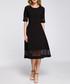Black mesh panel midi dress Sale - made of emotion Sale