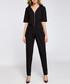 Black zip-up short sleeve jumpsuit Sale - made of emotion Sale
