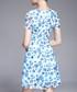 Blue floral print floaty dress Sale - lanelle Sale