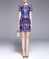 Blue embroidered mini dress Sale - lanelle Sale