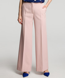 Powder pink wide-leg trousers