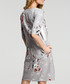 Grey floral print A-line dress Sale - made of emotion Sale