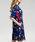 Navy floral print A-line dress Sale - made of emotion Sale