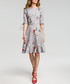 Grey floral print ruffle hem dress Sale - made of emotion Sale