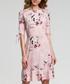 Pink floral print ruffle hem dress Sale - made of emotion Sale