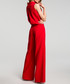 Red sleeveless wide leg jumpsuit Sale - made of emotion Sale