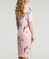 Powder pink floral print tie-neck dress Sale - made of emotion Sale