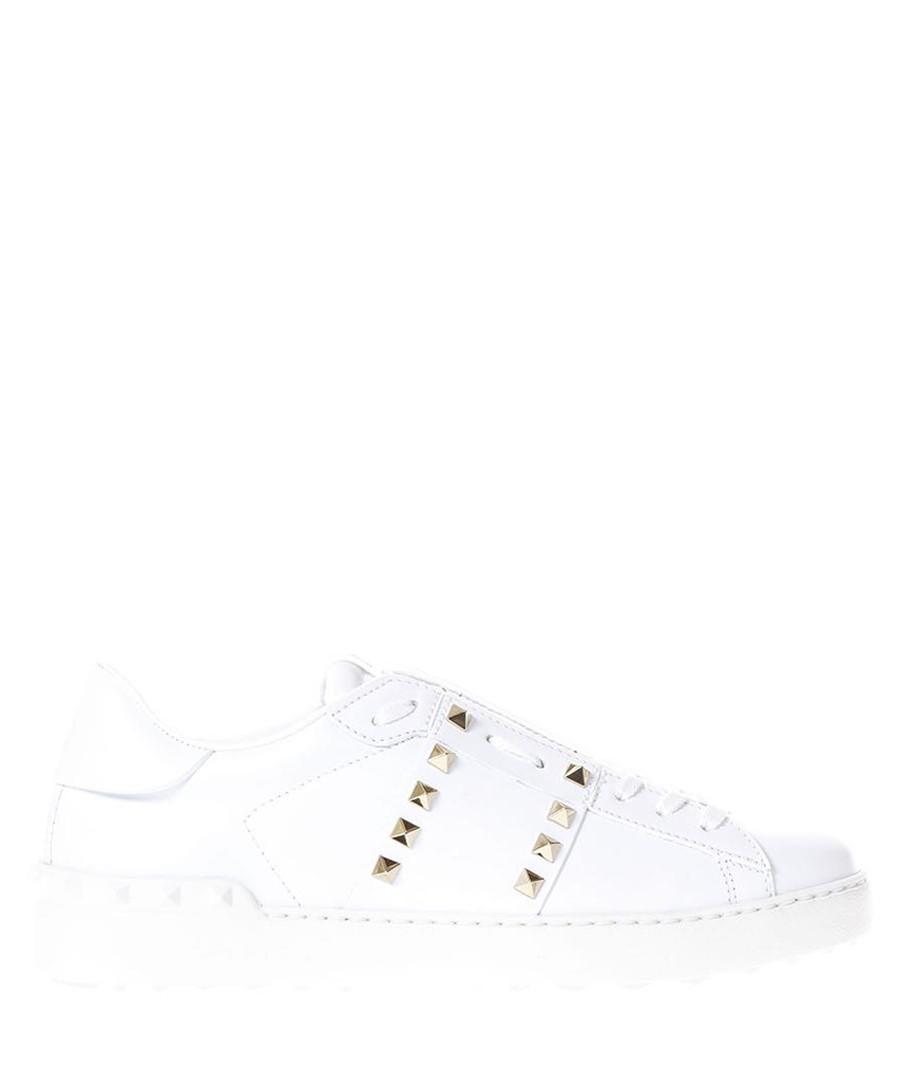 Rockstud white leather sneakers Sale - valentino garavani