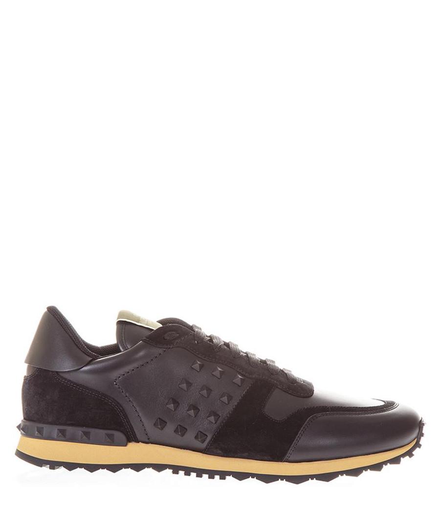 Rockstud grey leather sneakers Sale - valentino garavani
