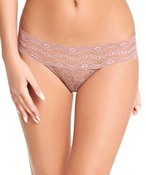 Lace Kiss fawn lace thong