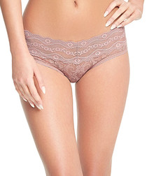Lace Kiss fawn lace briefs
