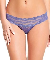 Lace Kiss purple lace Brazilian briefs