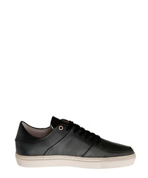Jay St black leather lace-up sneakers
