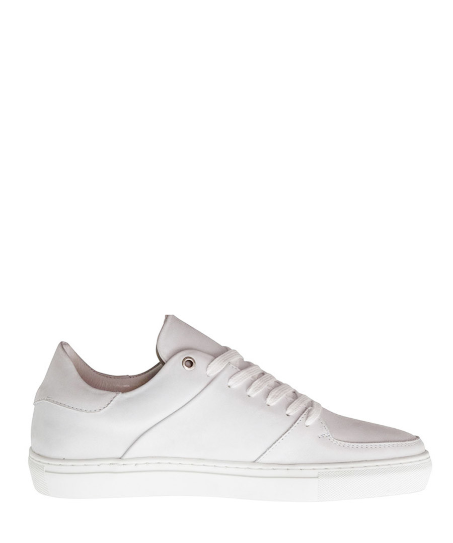 Jay St. white leather lace-up sneakers Sale - DenBroeck