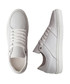 Jay St. white leather lace-up sneakers Sale - DenBroeck Sale