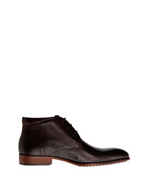 John St. brown leather lace-up shoes