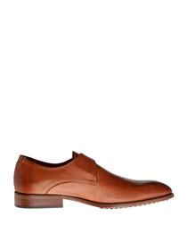 Liberty St. cognac leather buckle shoes