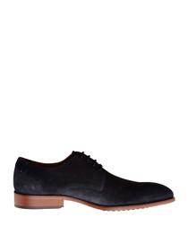 Rector St. blue suede lace-up shoes