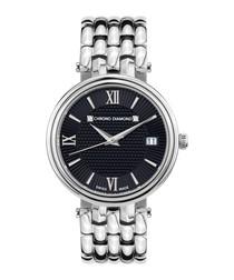 Kyrene silver-tone steel watch