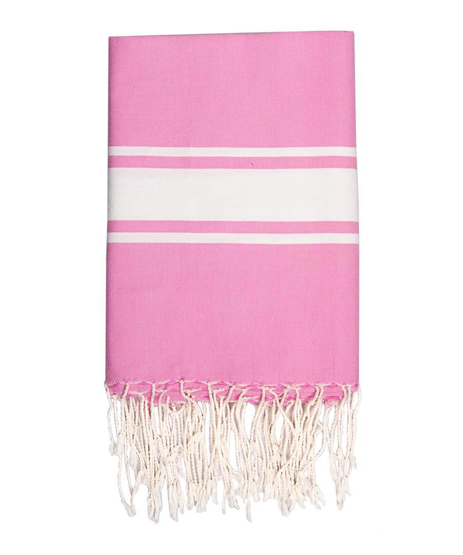 St Tropez pink cotton fouta towel Sale - FEBRONIE