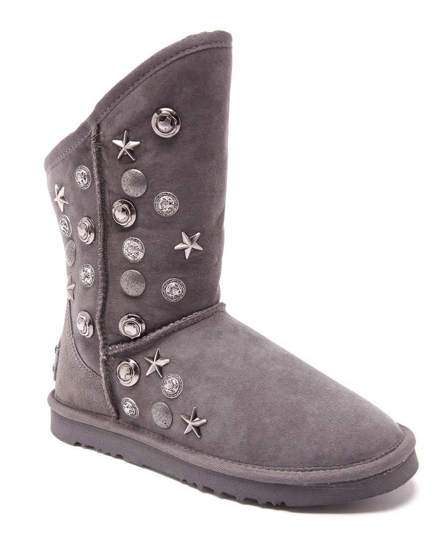 Angel Sho charcoal suede boots Sale - Australia Luxe